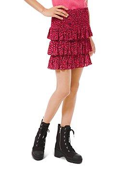 MICHAEL Michael Kors - Printed Tiered Skirt