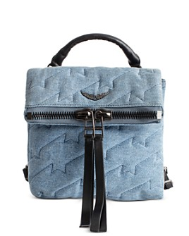 Zadig & Voltaire - Romy Quilted Denim Backpack