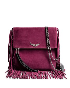 Zadig & Voltaire - Rockson Large Fringed Suede Clutch