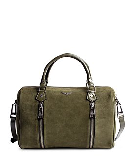 Zadig & Voltaire - Sunny Medium Suede Leather Bowling Bag