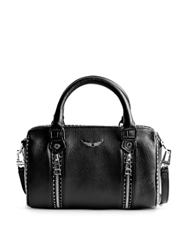 Zadig & Voltaire - Sunny Small Studded Leather Bowling Bag