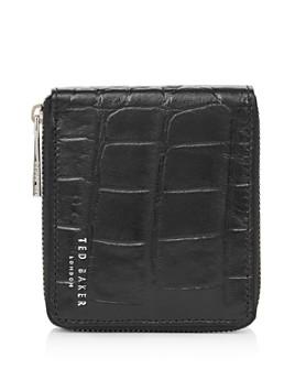 Ted Baker - Shoppa Croc-Embossed Leather Zip-Around Wallet