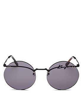 Kenzo - Women's Rimless Round Sunglasses, 60mm