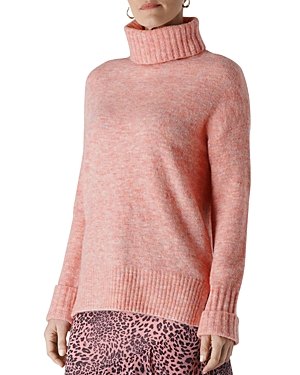 Whistles Ribbed Turtleneck Knit Sweater