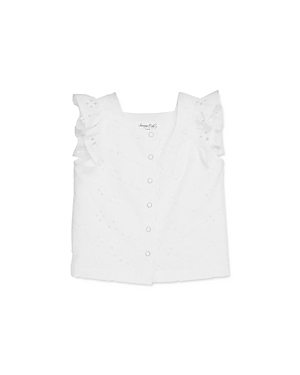 Sovereign Code Girls' Amity Eyelet Cotton Top - Big Kid
