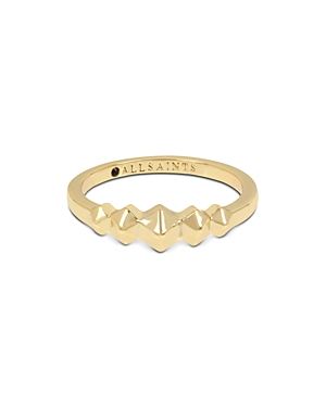 Allsaints Gold-Tone Hexagon Ring