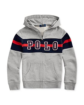 Ralph Lauren - Boys' Cotton Polo Stripe Zip Hoodie - Big Kid