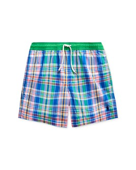 Ralph Lauren - Boys' Plaid Swim Trunks - Big Kid