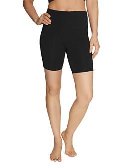 Betsey Johnson - Side-Slit Biker Shorts