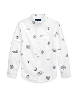 Ralph Lauren - Boys' Collegiate Printed Button Cotton Oxford Shirt - Big Kid