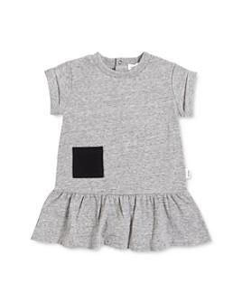 Miles Baby - Girls' Organic Cotton-Blend Ruffled Dress - Baby