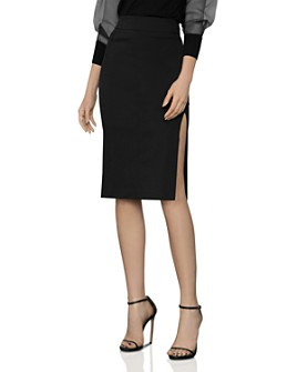 BCBGMAXAZRIA - Side-Slit Pencil Skirt