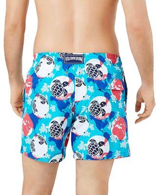 Sunshine Chinese Pastel Mens Beach Shorts Elastic Waist Pockets Lightweight Swimming Board Short Quick Dry Short Trunks