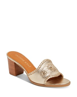 Jack Rogers - Women's Rory Slip On Mid-Heel Sandals
