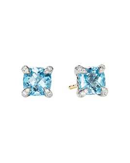 David Yurman - Châtelaine® Stud Earrings with Gemstones and Diamonds