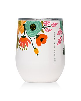 Corkcicle - Rifle Paper Co. Lively Floral Stemless Wine Cup, 12 oz.