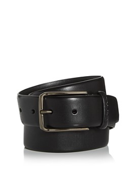Canali - Men's Embossed Leather Belt