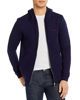 Maison Labiche - Amour Cotton Embroidered Full-Zip Regular Fit Hoodie
