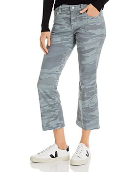 J Brand - Selena Mid-Rise Crop Bootcut Jeans in Light Dakota Snow Camo - 100% Exclusive