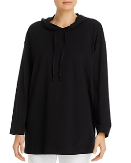 Eileen Fisher - Drawstring Hooded Top