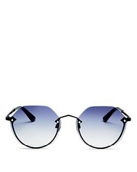 McQ Alexander McQueen - Unisex Rimless Hexagon Sunglasses, 58mm