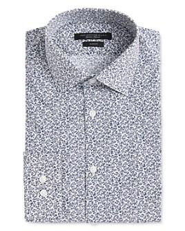 John Varvatos Star USA - Soho Scattered Floral-Print Slim Fit Dress Shirt
