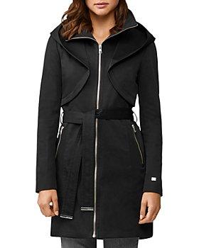 Soia & Kyo - Arabella Zip-Up Hooded Rain Coat