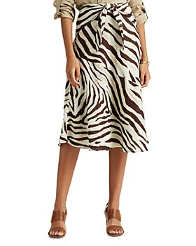 Ralph Lauren - Tie-Waist Animal Print Midi Skirt