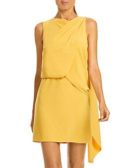 HALSTON - Asymmetrical Draped Dress