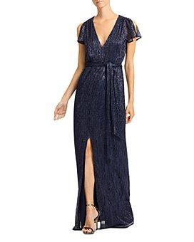 HALSTON - Metallic Jersey Gown