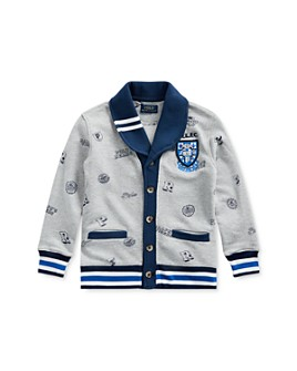 Ralph Lauren - Boys' Collegiate Print Cardigan - Little Kid