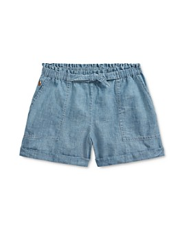 Ralph Lauren - Girls' Chambray Camp Shorts - Big Kid