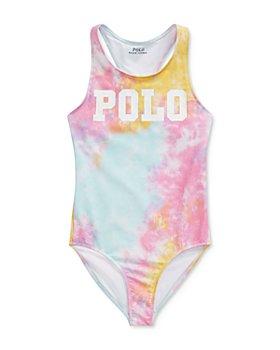 Ralph Lauren - Girls' Tie-Dyed Polo One-Piece Swimsuit - Little Kid, Big Kid