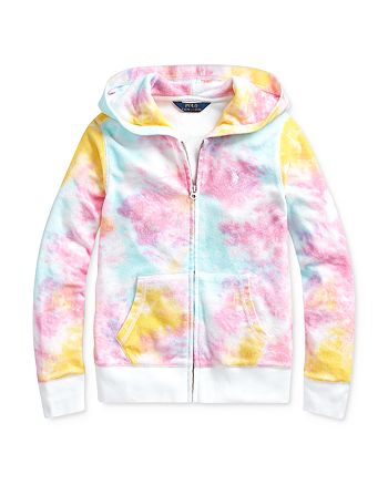 Ralph Lauren - Girls' Tie-Dyed Hoodie - Big Kid