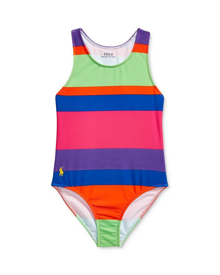 Ralph Lauren - Girls' Striped One-Piece Swimsuit - Little Kid