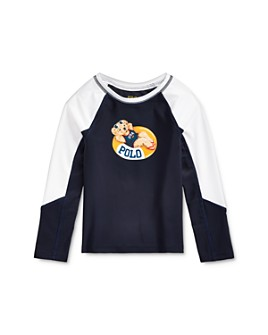 Ralph Lauren - Girls' Bear Rash Guard - Little Kid