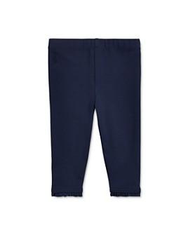 Ralph Lauren - Girls' Stretch Cotton Ruffled Leggings - Baby