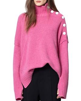 Zadig & Voltaire - Alma Cashmere Mock-Neck Sweater