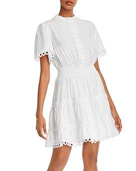 AQUA - Smocked-Waist Dress