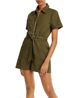 AQUA - Cotton Belted Romper - 100% Exclusive