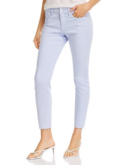 AQUA - Cropped Skinny Jeans in Light Blue - 100% Exclusive