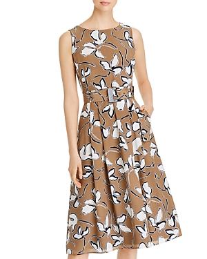 Lafayette 148 New York Gracie Belted Printed Dress-Women