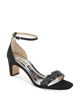 Badgley Mischka - Women's Jackie Embellished Mid-Heel Sandals