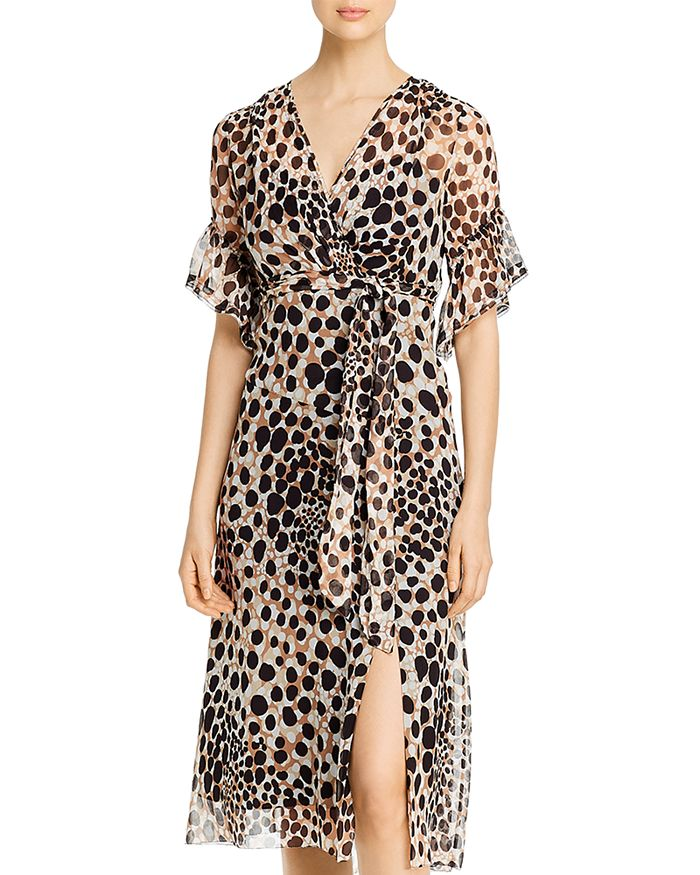 Elie Tahari AVA SILK PRINTED DRESS
