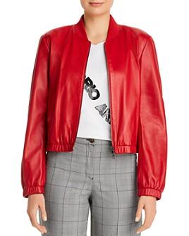 Armani - Leather Bomber Jacket