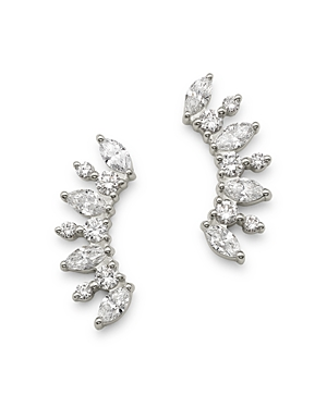 Bloomingdale's Diamond Marquis Cluster Ear Climbers in 14K White Gold - 100% Exclusive