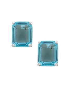 Ralph Lauren - Silver-Tone Stone Square Stud Earrings