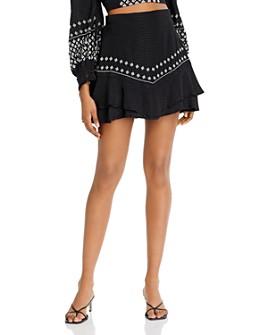 Rahi - Sasha Embroidered Mini Skirt