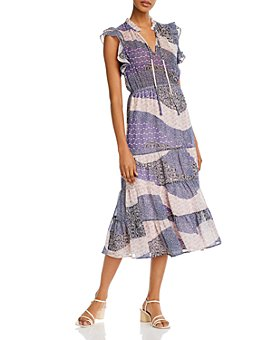 BB DAKOTA - All Mixed Up Ruffle-Sleeve Maxi Dress