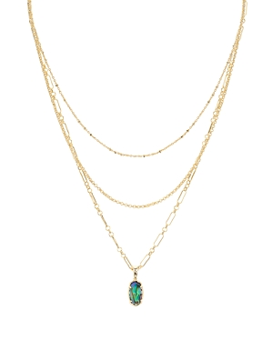 Kendra Scott Elisa 14K Gold-Plated Mother-Of-Pearl Layered Pendant Necklace, 14-16-Jewelry & Accessories